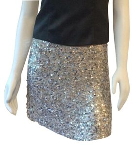 Alice + Olivia Mini Skirt Silver