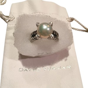 David Yurman David Yurman Pearl Cable Ring