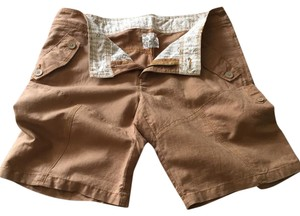 Free People Cuffed Shorts Tan