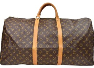 Louis Vuitton Keepall Keepall 60 Brown Travel Bag
