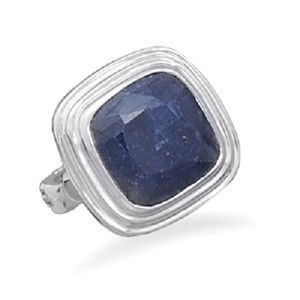 Other Sterling Silver Sapphire Ring