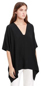 Vince Poncho Silk Top Black