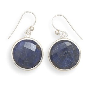 Other Sterling Silver Sapphire Drop Earrings