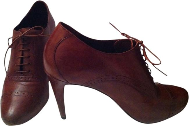 Item - Brown Oxford Heel Nike Air Collection Formal Shoes Size US 7