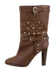 Ralph Lauren Collection Studs Distressed Like New Versitile Distressed brown Boots