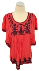 Yasiqi Anthropologie J Crew Top Red / Orange
