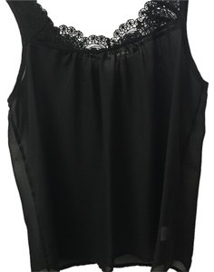 Lily White Top Black sheer