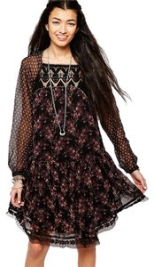 Free People short dress Midnight Garden Boho on Tradesy