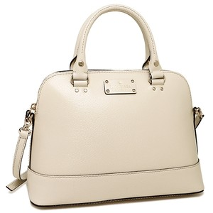 Kate Spade Leather Satchel in Cream