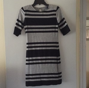 French Connection Jag Stripe 3/4 Sleeve Dress