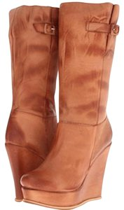 Miss Muz distressed camel leather Boots