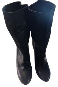 Tabitha Simmons Leather Designer Fall Staple black Boots