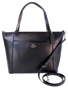 Coach Leather Crossbody Tote in Black