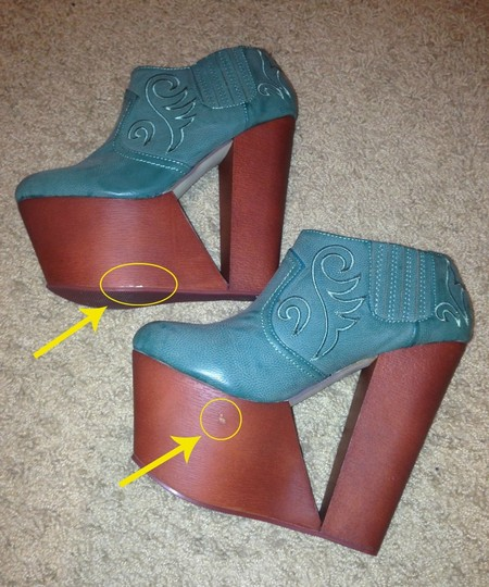 Privileged Western-inspired High-heels Wedge Teal Boots
