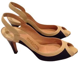 Salvatore Ferragamo Black and nude Pumps