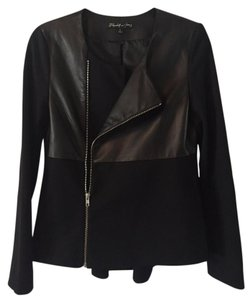 Elizabeth and James Leather Peplum Leather Jacket
