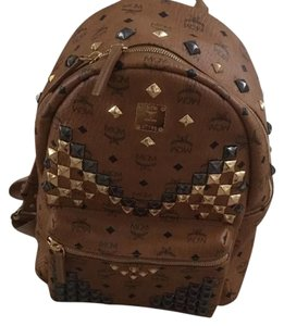 mcm studded backpack with receipt dustbag Backpack