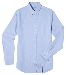 Everlane Chambray Oxford Classic Button Down Shirt blue