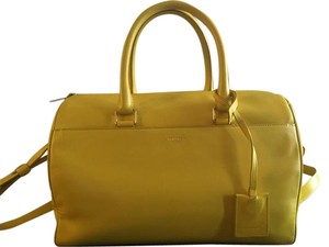 Saint Laurent Duffle Satchel in Yellow