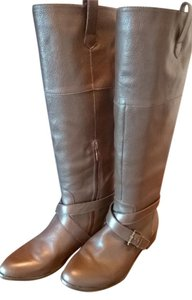 Pour La Victoire Riding Leather Equestrian Brown Boots