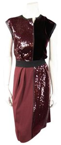 Marc Jacobs Sequin Velvet Color Block Dress