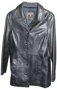 Frye Tailored Trench Peacoat Leather Jacket
