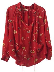 Rebecca Taylor Silk Tunic Flowy Top Red