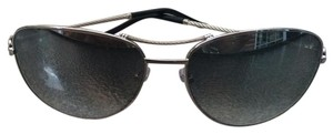 Fred Lunettes New FRED 8462 F10 Palladium 102 Silver Mirrored Cateye Sunglasses