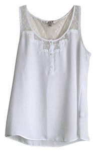 LC Lauren Conrad Lace Top White