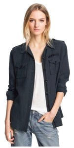 Elizabeth and James Military Linen Military Jacket