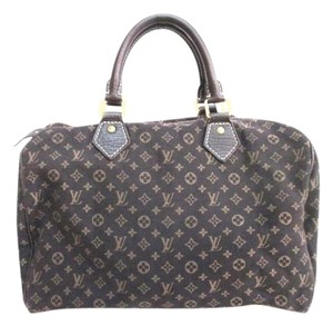 Louis Vuitton Speedy 30 Satchel in Black