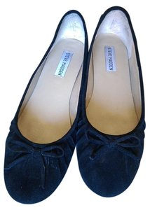 Steve Madden Suede Leather Cute Bows Black Flats