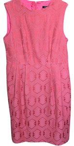 Nanette Lepore short dress Pink/Red Brocade Damask Pattern Fitted on Tradesy