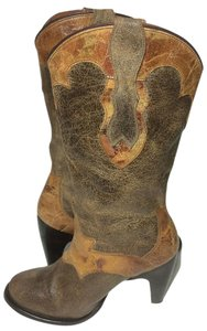 Justin Boots Size 7 Vintage 7 Cowgirl Brown Boots