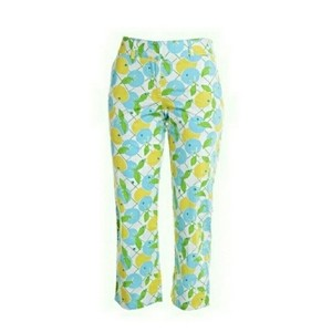 Lilly Pulitzer Putlizer Lemon Capris Yellow, White, Green, Blue