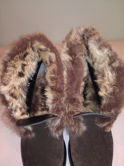 Robert Clergerie Real Fur Ankle Suede Brown Boots Image 7