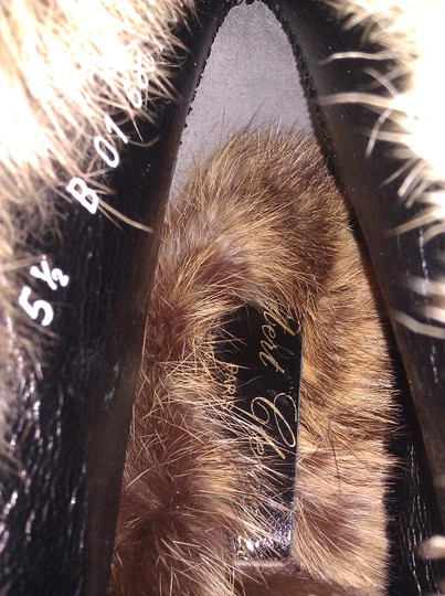 Robert Clergerie Real Fur Ankle Suede Brown Boots Image 8
