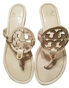 Tory Burch off white patent leather Flats