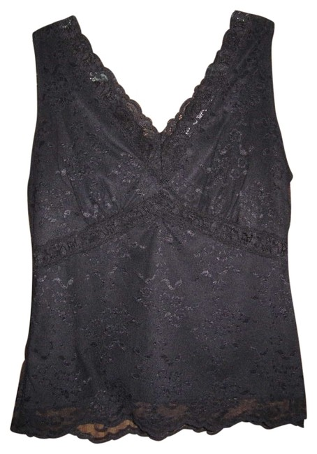 Preload https://item3.tradesy.com/images/worthington-black-fully-lined-lace-tank-topcami-size-8-m-195427-0-0.jpg?width=400&height=650