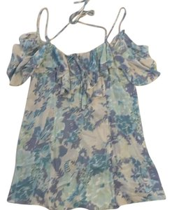 Kimchi Blue short dress Light blue floral on Tradesy