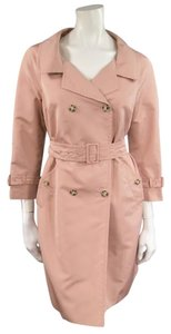 Prada Portrait Double Breasted Taffeta Muted Trench Coat