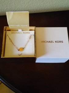 Michael Kors Michael Kors Rose Gold Necklace with Crystal Accents