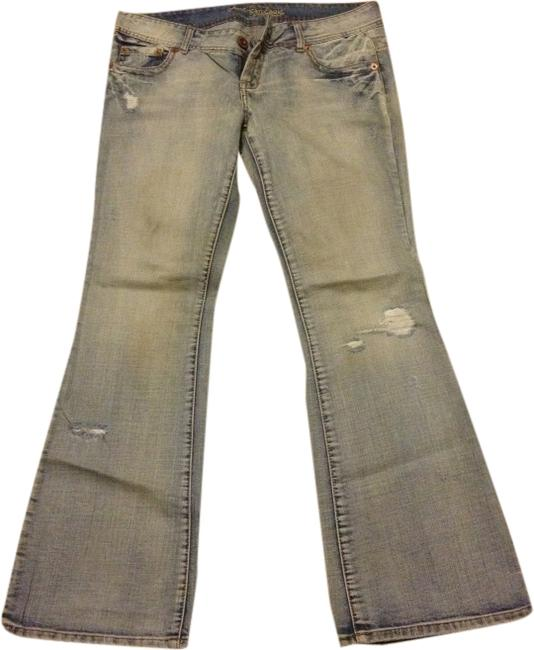 American Eagle Outfitters Medium 33 32 Flare Leg Jeans-Distressed