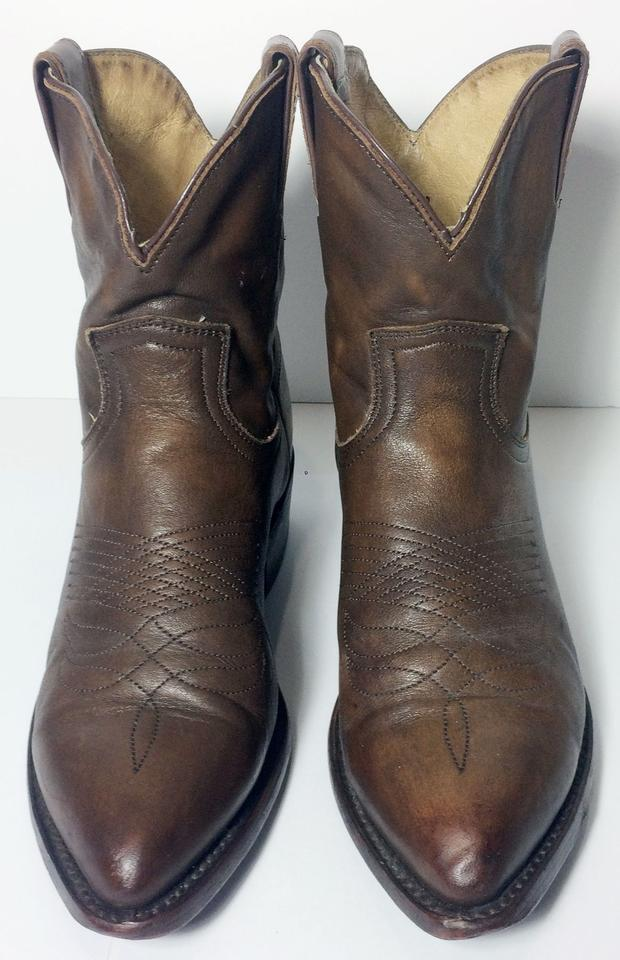 8593a63c978 Frye Brown 77815 Billy Short Leather Cowgirl Women's Boots/Booties Size US  6.5 Regular (M, B) 30% off retail