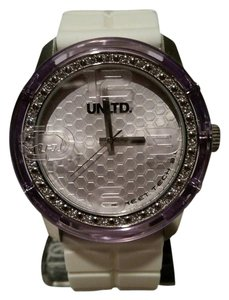 Marc Ecko New Marc Ecko Unltd The Fuse White and Silver Tone Unisex Watch