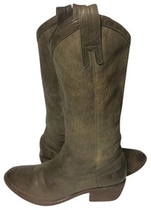 Frye 77686 Carson Carson Pull On Cowgirl Size 7 Khaki Boots