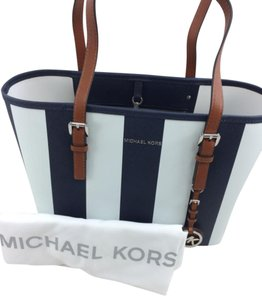 Michael Kors Tote in Blue and White Stripe