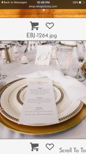 Gold Table Number Cards & Stands