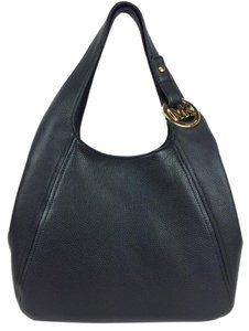 Michael Kors Hobo Leather Shoulder Tote in Black