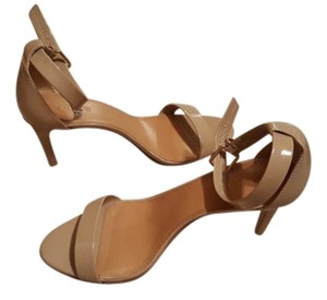 J.Crew Heels Nude Strappy Classic Ashen Khaki (nude) Sandals